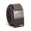 Huck Norris Disc Golf Black Buckle GRIP6 Grey belt strap swatch-image