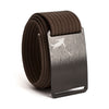 Huck Norris Disc Golf Black Buckle GRIP6 Mocha belt strap swatch-image