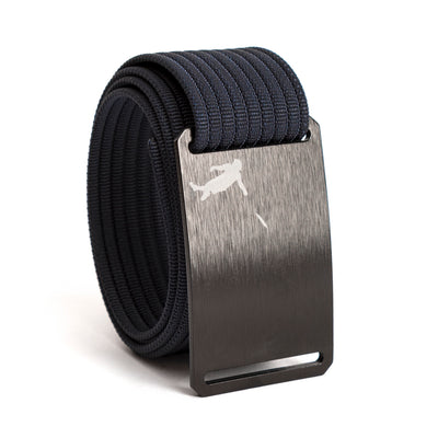 Huck Norris Disc Golf Black Buckle GRIP6 Navy belt strap swatch-image