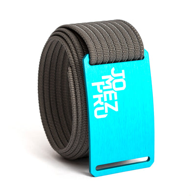 Jomez Pro Disc Golf Teal Buckle GRIP6 Grey belt strap swatch-image