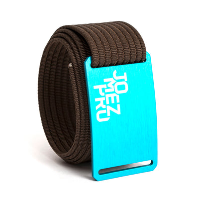 Jomez Pro Disc Golf Teal Buckle GRIP6 Mocha belt strap swatch-image