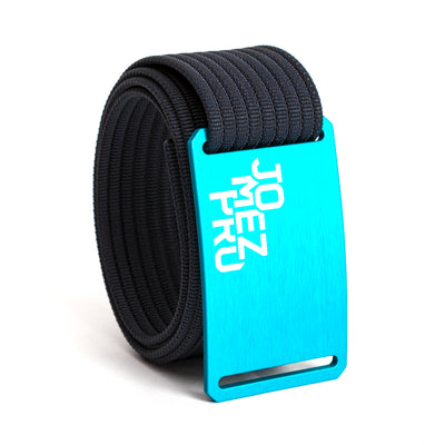 Jomez Pro Disc Golf Teal Buckle GRIP6 Navy belt strap swatch-image
