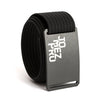 Jomez Pro Disc Golf Gunmetal Buckle GRIP6 Black belt strap swatch-image