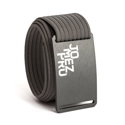 Jomez Pro Disc Golf Gunmetal Buckle GRIP6 Grey belt strap swatch-image