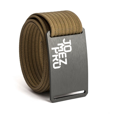 Jomez Pro Disc Golf Gunmetal Buckle GRIP6 Khaki belt strap swatch-image