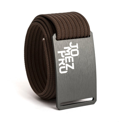 Jomez Pro Disc Golf Gunmetal Buckle GRIP6 Mocha belt strap swatch-image