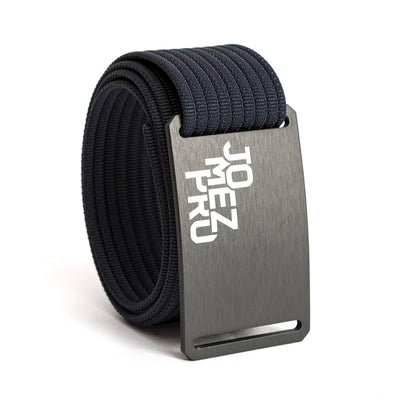 Jomez Pro Disc Golf Gunmetal Buckle GRIP6 Navy belt strap swatch-image