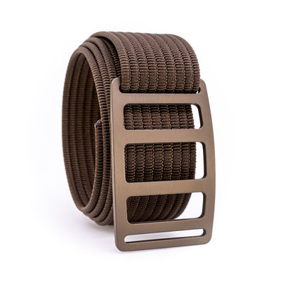 Bronze Vert GRIP6 Men's belt with Mocha strap swatch-image 360view