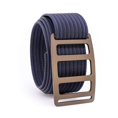 Bronze Vert GRIP6 Men's belt with Navy strap swatch-image