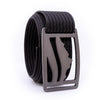 Gunmetal Wasatch GRIP6 Men's belt with Black strap swatch-image