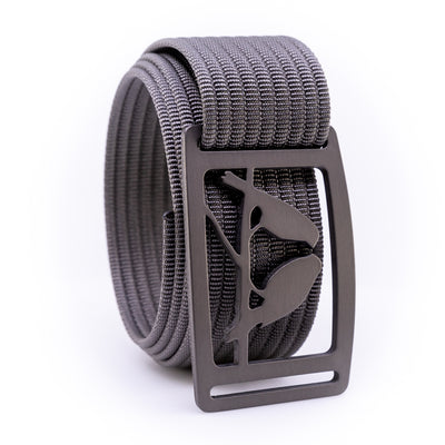 Gunmetal Kestrel GRIP6 Men's belt with Grey strap swatch-image