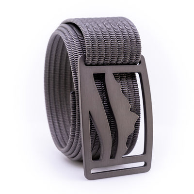Gunmetal Wasatch GRIP6 Men's belt with Grey strap swatch-image