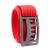 Gunmetal Uintah GRIP6 Men's belt with Red strap swatch-image