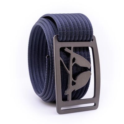 Gunmetal Kestrel GRIP6 Men's belt with Navy strap swatch-image