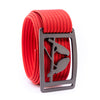 Gunmetal Kestrel GRIP6 Men's belt with Red strap swatch-image