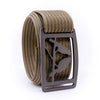 Gunmetal Kestrel GRIP6 Men's belt with Khaki strap swatch-image
