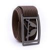 Gunmetal Kestrel GRIP6 Men's belt with Mocha strap swatch-image