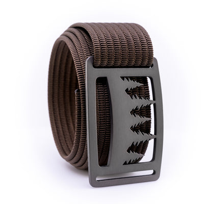 Gunmetal Uintah GRIP6 Men's belt with Mocha strap swatch-image