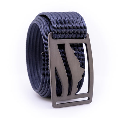 Gunmetal Wasatch GRIP6 Men's belt with Navy strap swatch-image