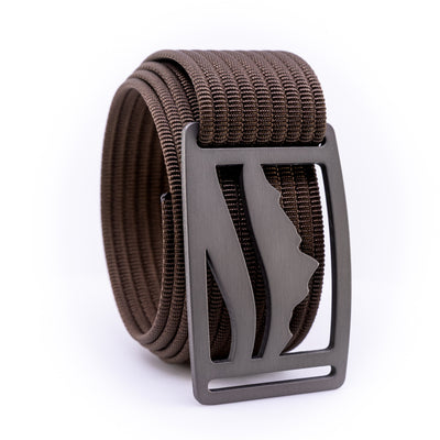 Gunmetal Wasatch GRIP6 Men's belt with Mocha strap swatch-image