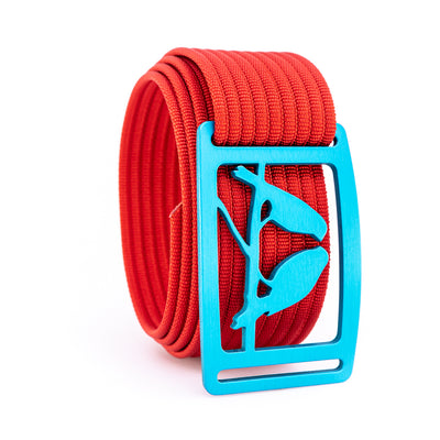 Aurora Kestrel GRIP6 Men's belt with Red strap swatch-image