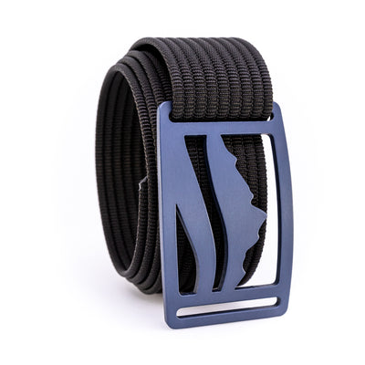 Blue Steel Wasatch GRIP6 Men's belt with Black strap swatch-image 360view
