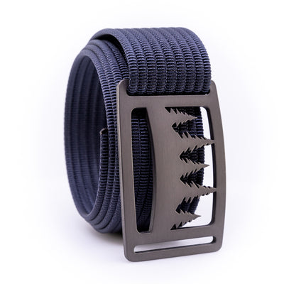 Gunmetal Uintah GRIP6 Men's belt with Navy strap swatch-image