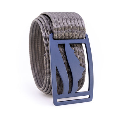Blue Steel Wasatch GRIP6 Men's belt with Grey strap swatch-image