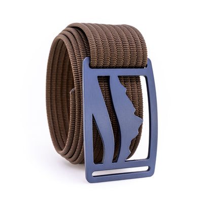 Blue Steel Wasatch GRIP6 Men's belt with Mocha strap swatch-image