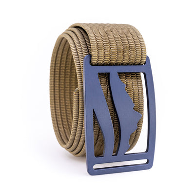 Blue Steel Wasatch GRIP6 Men's belt with Khaki strap swatch-image