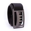 Gunmetal Uintah GRIP6 Men's belt with Black strap swatch-image 360view