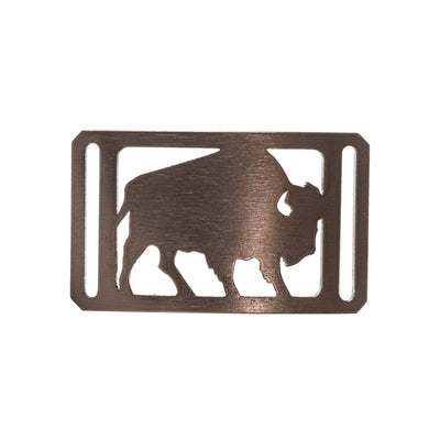 GRIP6 Belts Conservation Buffalo Bronze buckle swatch-image