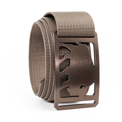Men's Conservation Buffalo buckle GRIP6 Cub belt strap swatch-image 360view