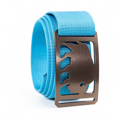 Men's Conservation Buffalo buckle GRIP6 Blue Glacier belt strap swatch-image
