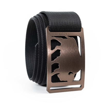 Men's Conservation Buffalo buckle GRIP6 Black Jet belt strap swatch-image