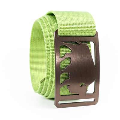 Men's Conservation Buffalo buckle GRIP6 Lime Green belt strap swatch-image