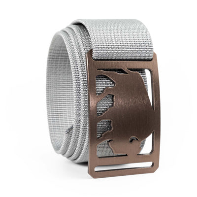 Men's Conservation Buffalo buckle GRIP6 Grey Titanium belt strap swatch-image