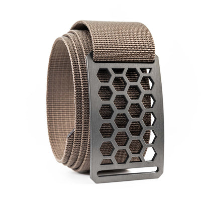 Men's Conservation Honeycomb Gunmetal buckle GRIP6 Cub Brown belt strap swatch-image