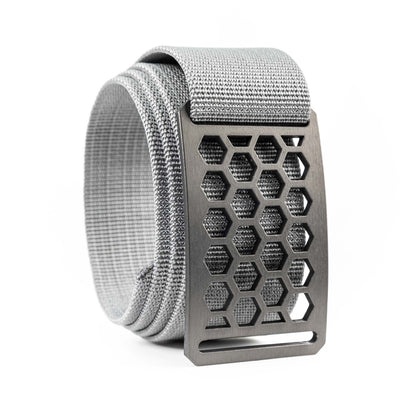 Men's Conservation Honeycomb Gunmetal buckle GRIP6 Titanium Grey belt strap swatch-image