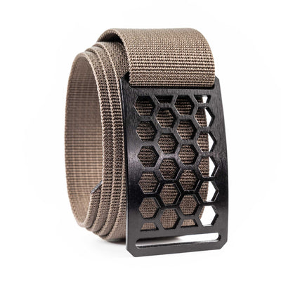 Men's Conservation Ninja Honeycomb buckle GRIP6 Titanium Midweight Strap belt Cub Brown swatch-image