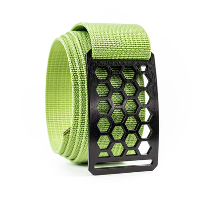 Men's Conservation Ninja Honeycomb buckle GRIP6 Titanium Midweight Strap belt Lime Green swatch-image