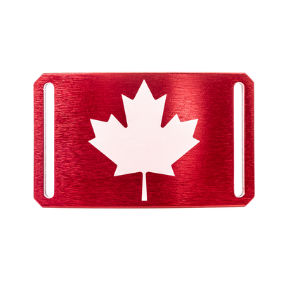 GRIP6 Belts Canada Maple Red Flag Narrow Buckle swatch-image