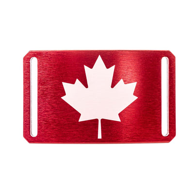 GRIP6 Belts Kids' Canada maple red flag buckle swatch-image
