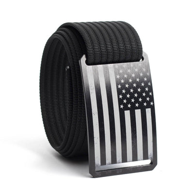 Men's USA Black Flag Buckle GRIP6 belt with Black strap swatch-image