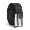 Kids' USA Black Flag Buckle GRIP6 belt with Black strap swatch-image