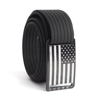 Men's USA Black Flag Narrow Buckle GRIP6 belt with Black strap swatch-image