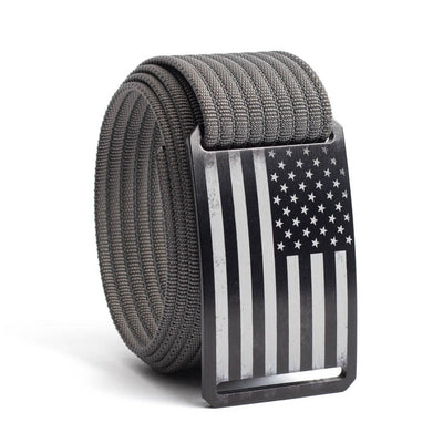 Men's USA Black Flag Buckle GRIP6 belt with Grey strap swatch-image