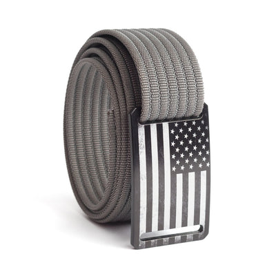 Women's USA Black Flag Narrow Buckle GRIP6 belt with Grey strap swatch-image