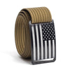 Men's USA Black Flag Buckle GRIP6 belt with Khaki strap swatch-image
