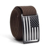 Men's USA Black Flag Buckle GRIP6 belt with Mocha strap swatch-image